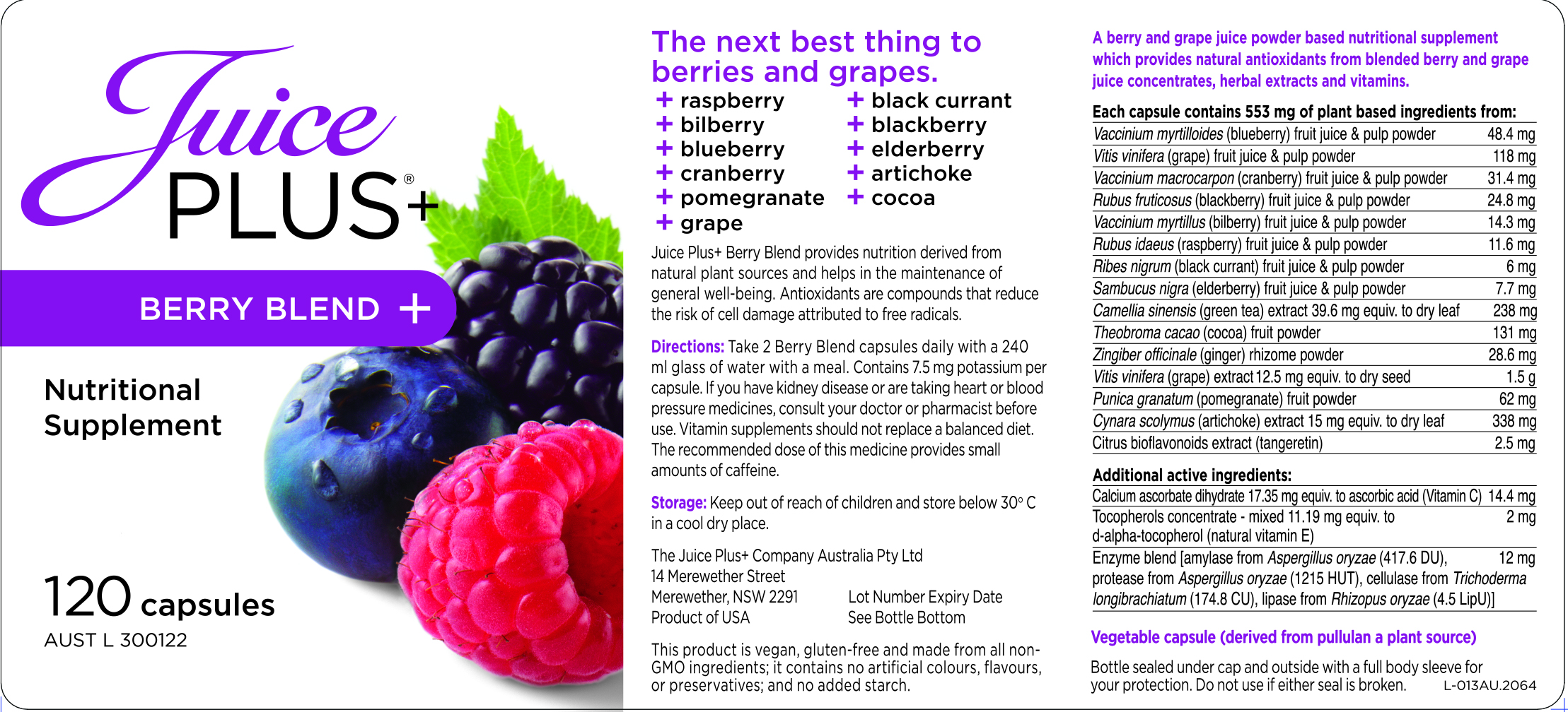 berry blend | juice plus+